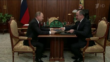 Встреча Президента России Владимира Путина с Главой Карачаево-Черкесии Рашидом Темрезовым