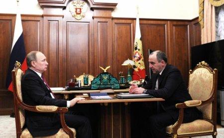 Встреча России Владимира Путина с Главой Карачаево-Черкесии Рашидом Темрезовым